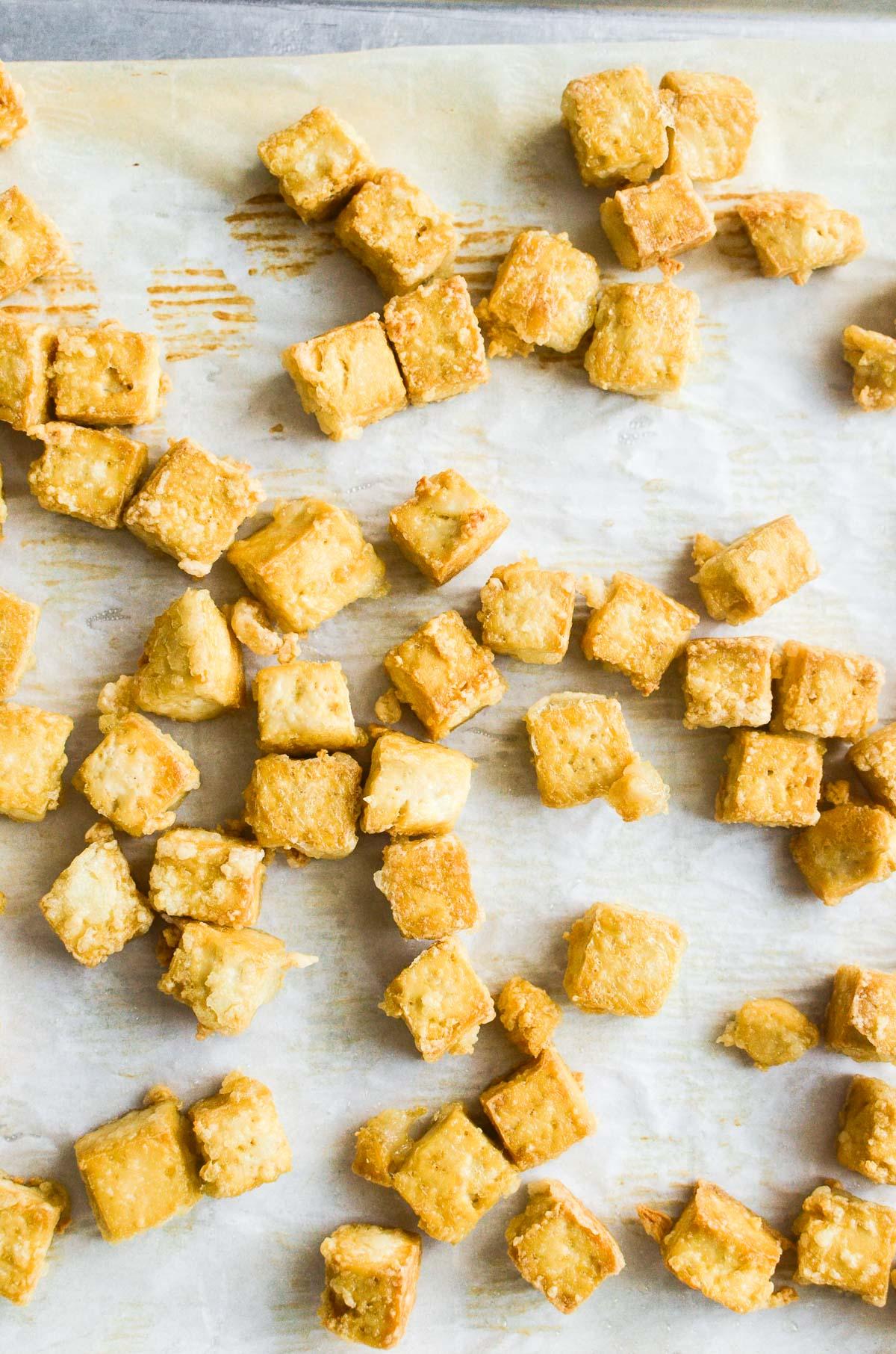 tofu cubes, baked