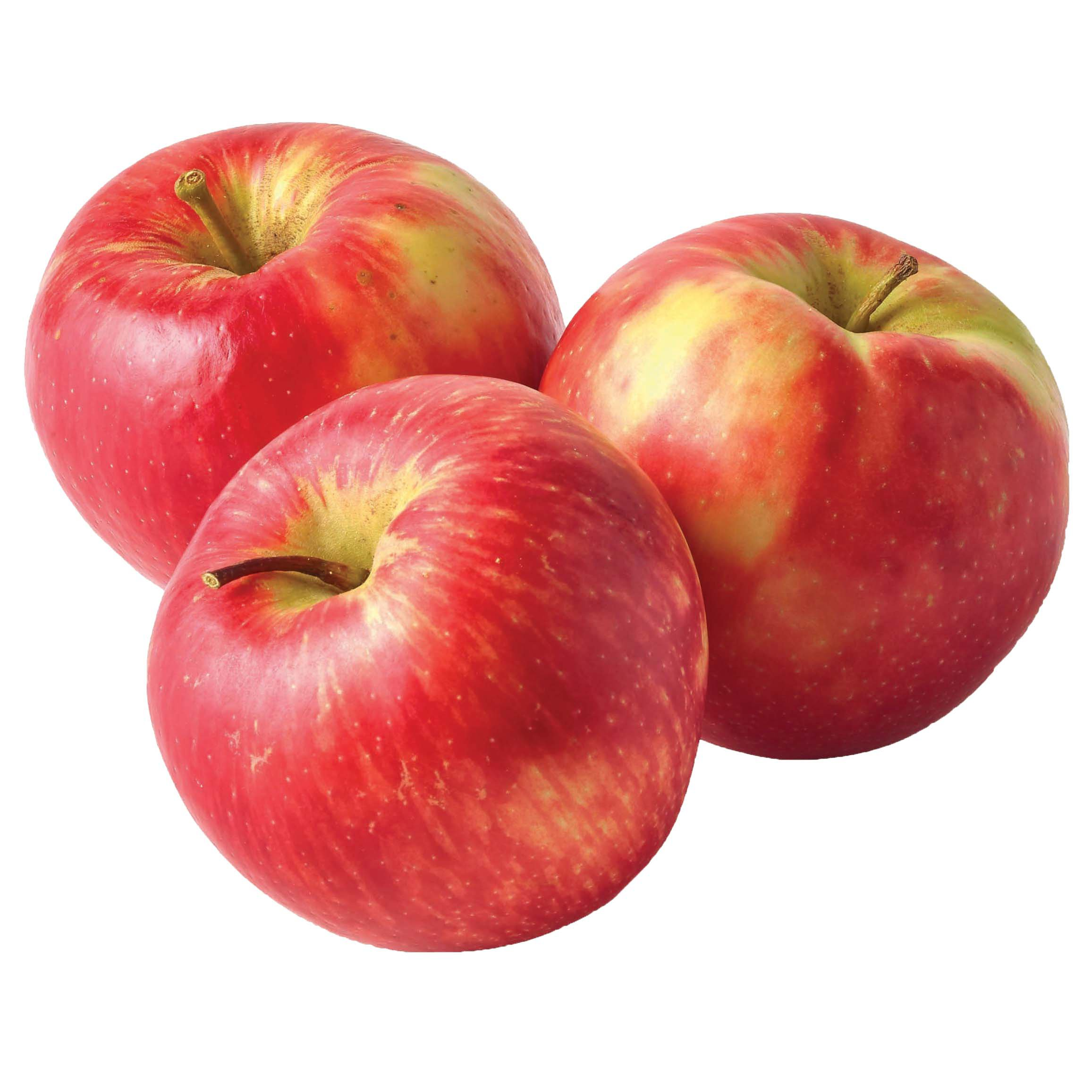 3 red apples