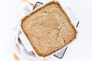 Baked pan of apple crumb bars