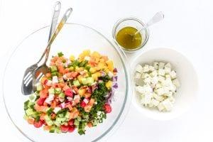 tossing an Israeli salad 2