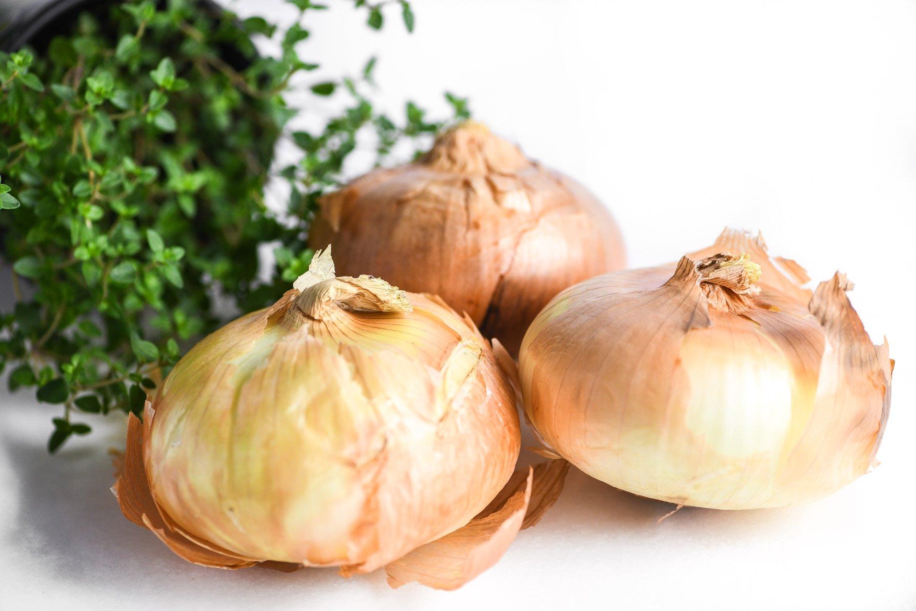 sweet Vidalia onions and thyme