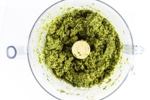 coarsely ground falafel mixture in food processor