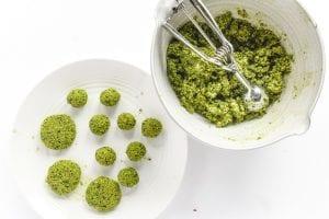forming balls or patties of falafel