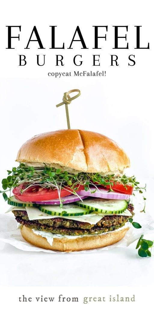 falafel burgers pin