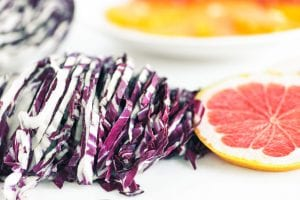 slicing radicchio for salad