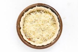 cheese in quiche dough