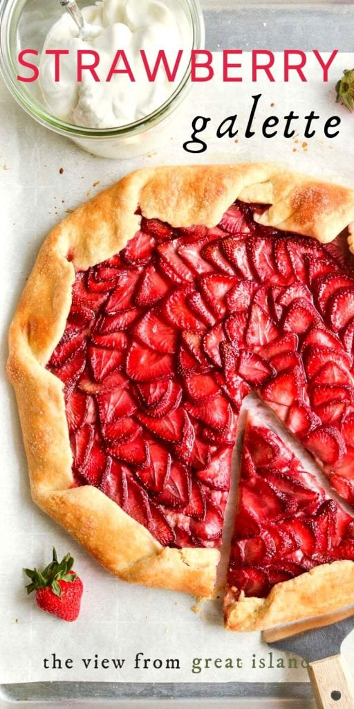 strawberry galette pin