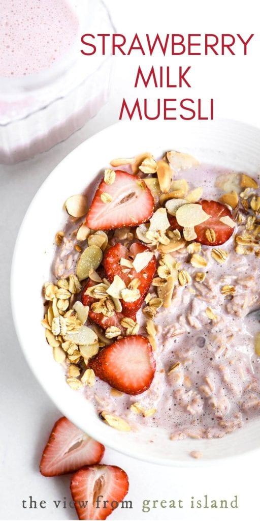strawberry milk muesli