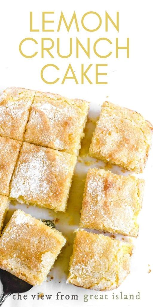 lemon crunch cake pin