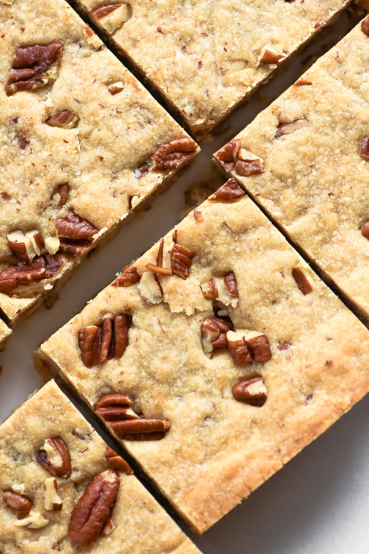 butter pecan shortbread, sliced into squares