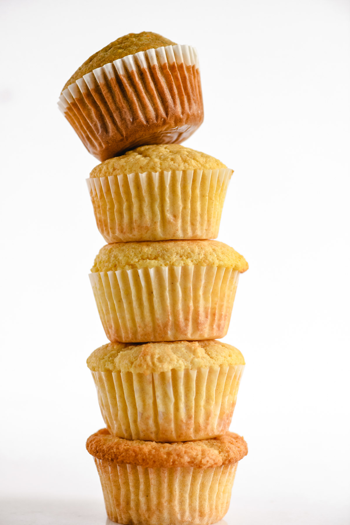 stacked cornbread muffins