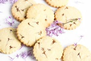 lilac sugar cookies, baked