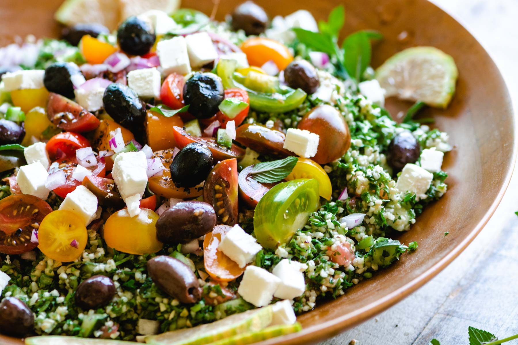 cracked wheat and parsley salad