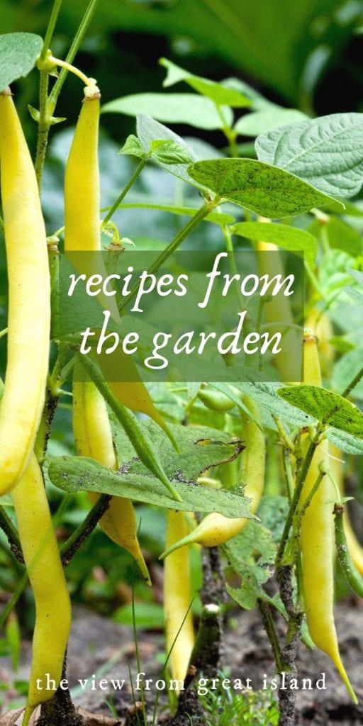 garden recipes pin