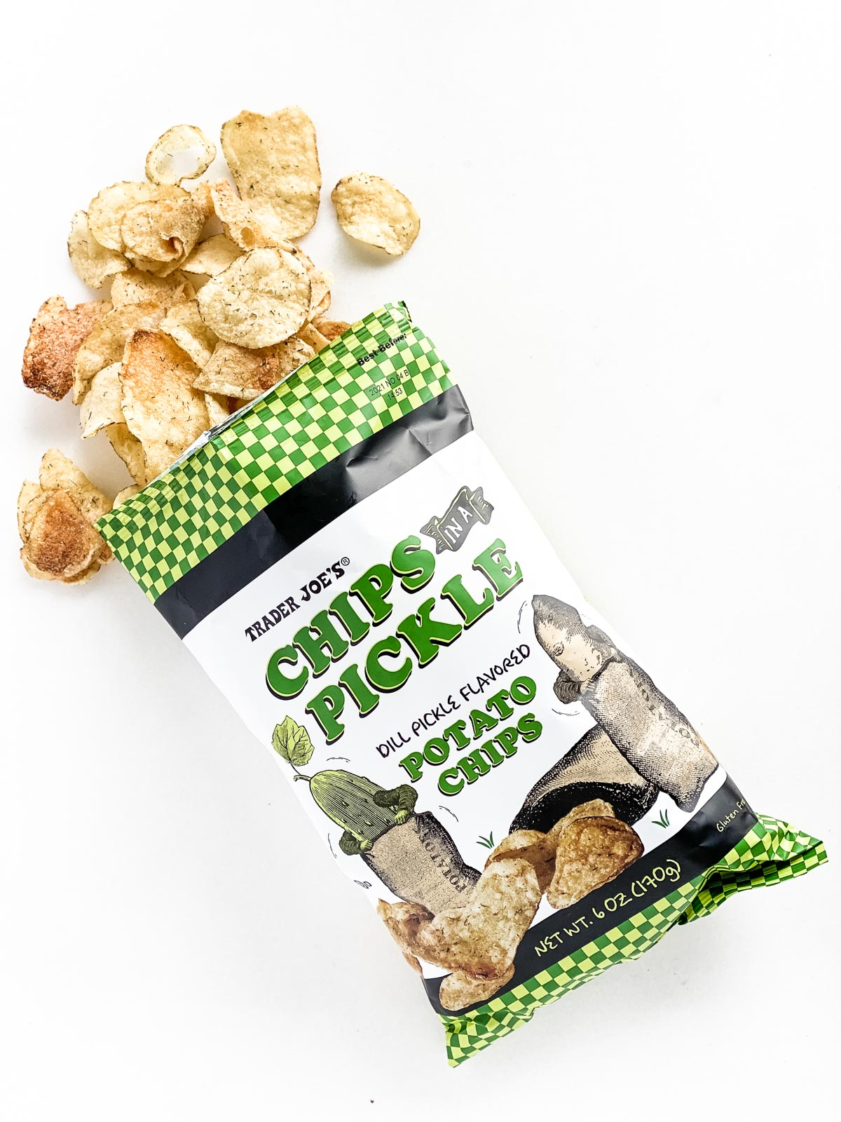 dill pickle chips from Trader Joe's