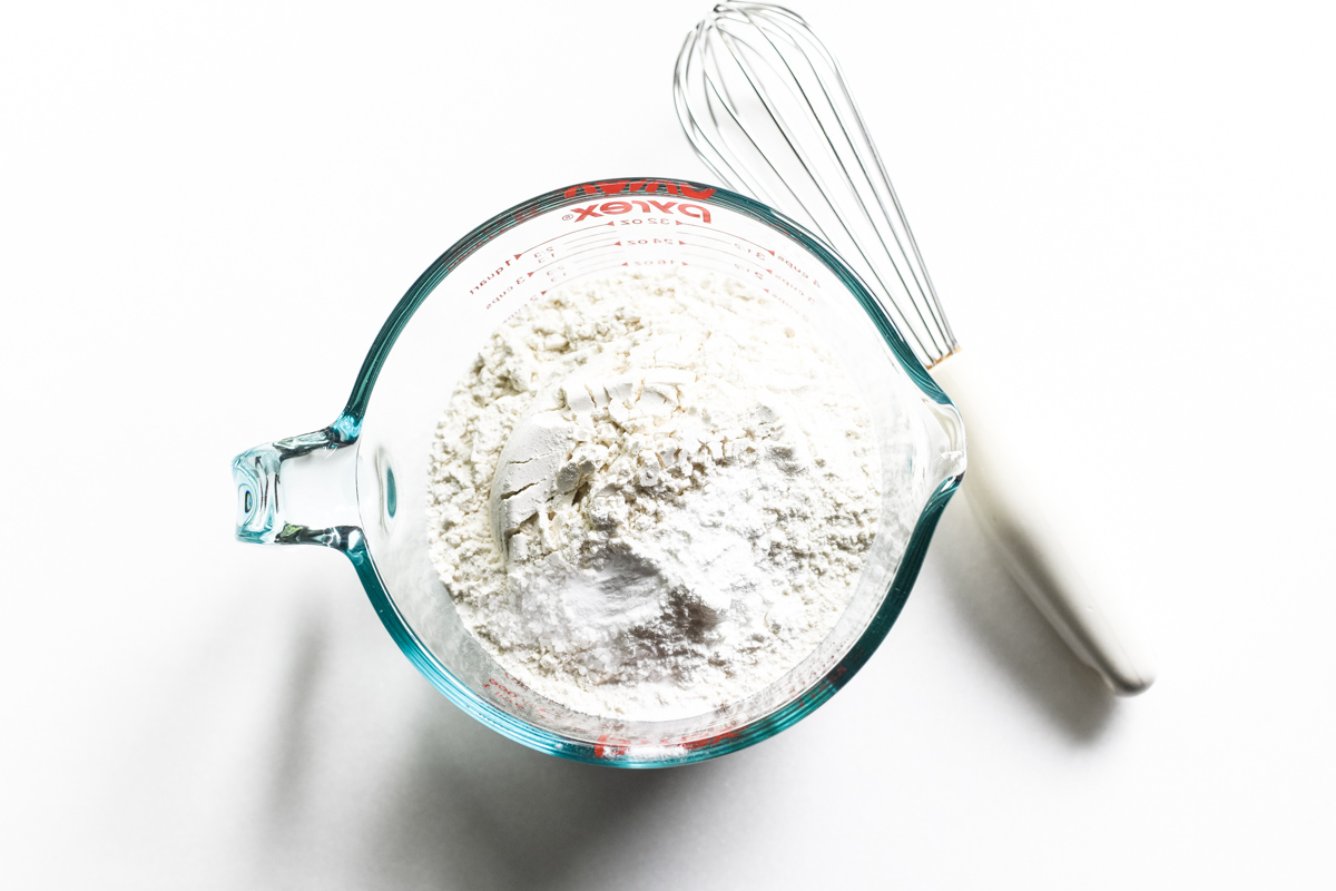 dry ingredients for blueberry muffins
