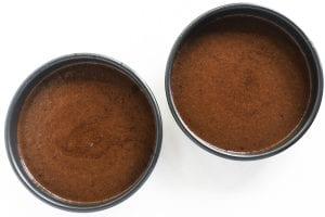 cake batter in pans