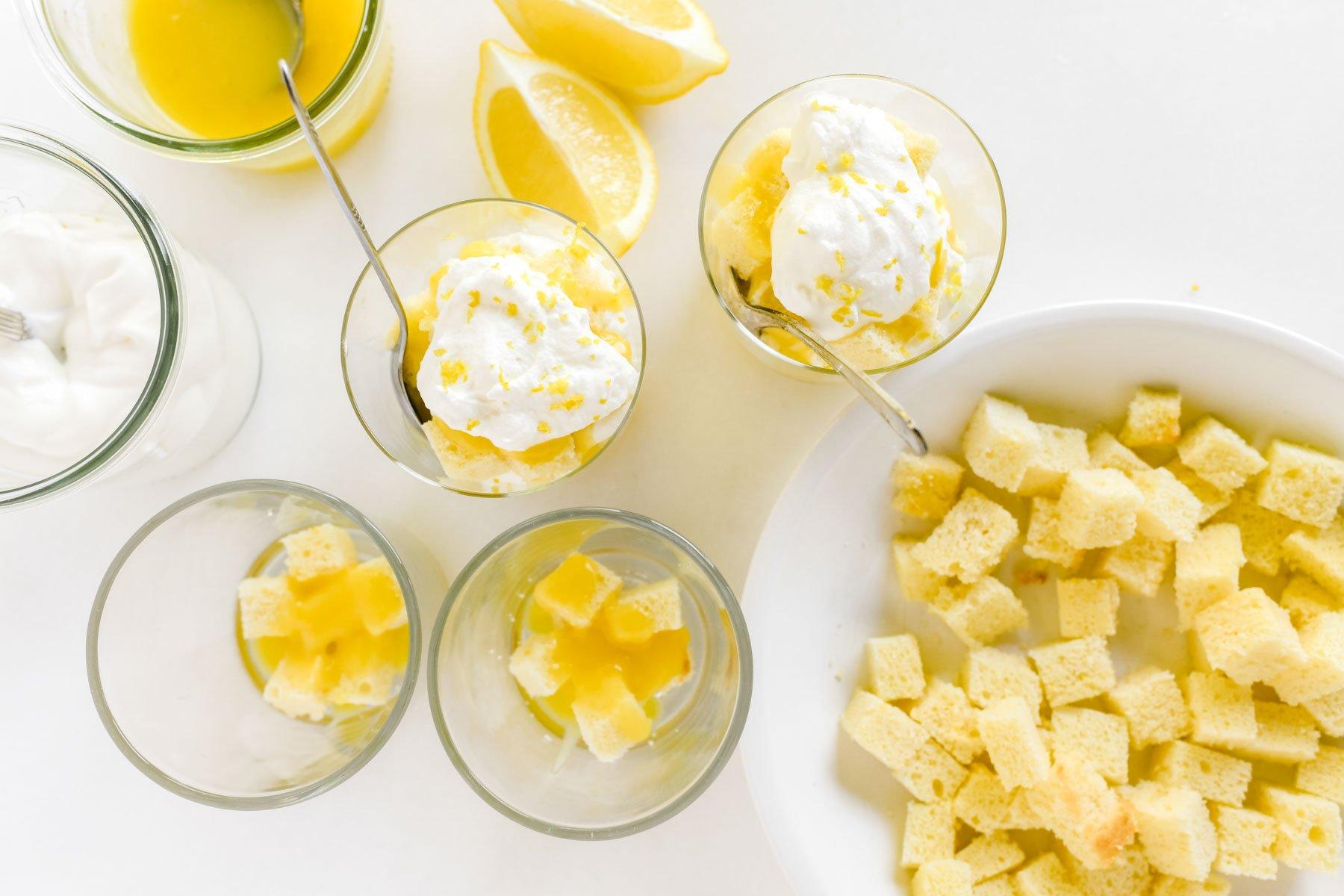 making lemon trifles