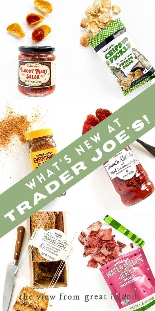 what's new at Trader Joe's pin
