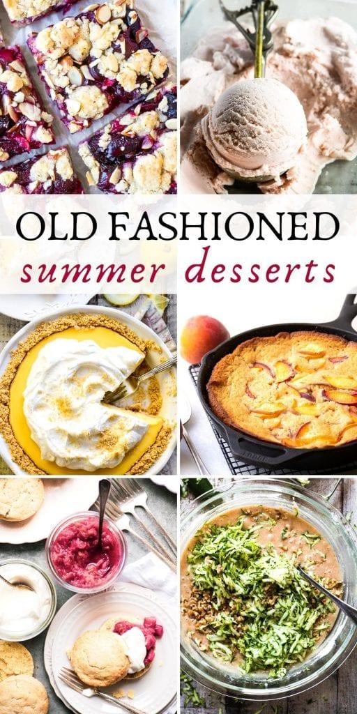 old fashioned summer desserts