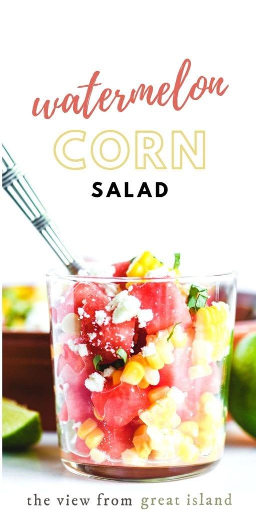 watermelon corn salad pin