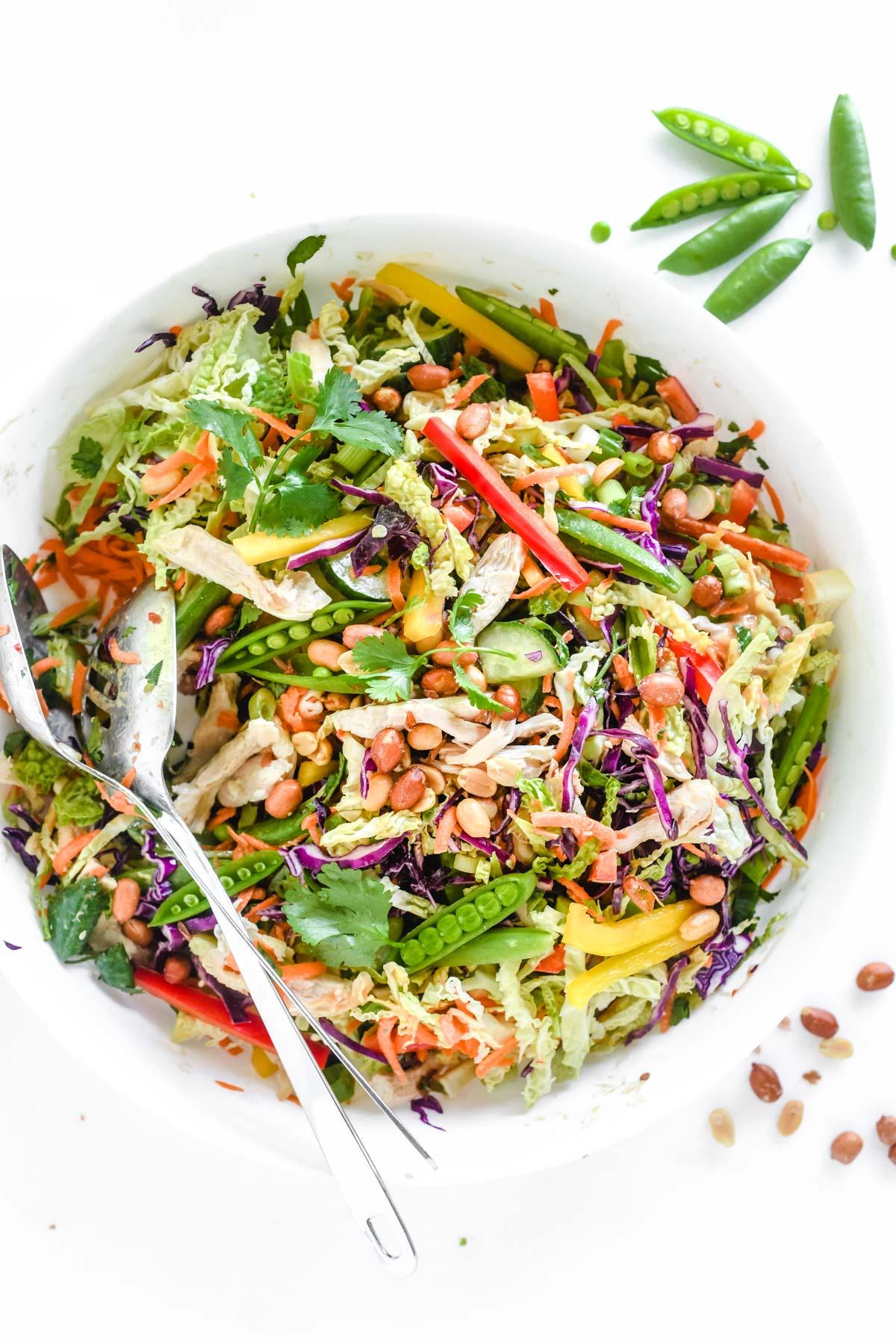 Thai inspired chicken salad