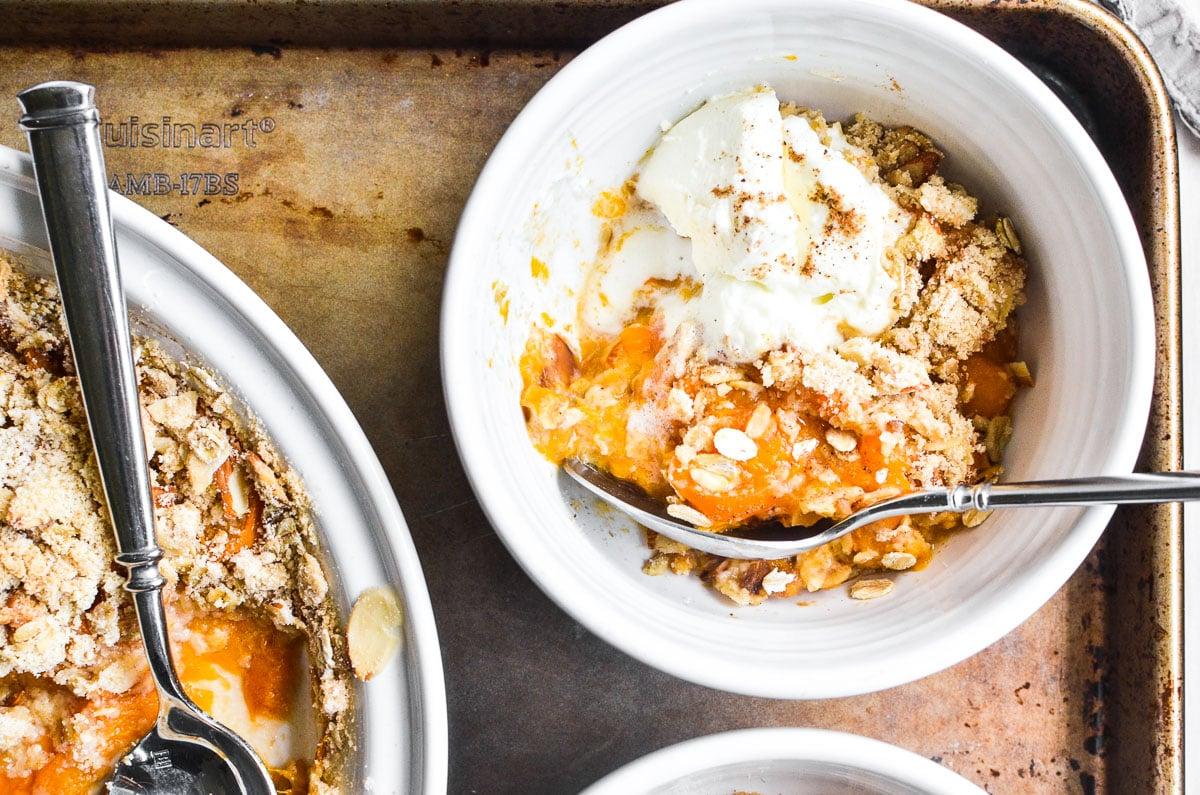 breakfast crisp in bowl