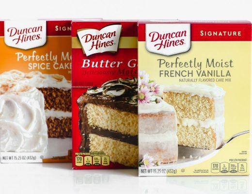 cake mix boxes