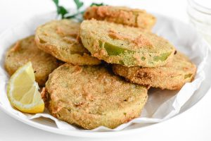 fried green tomatoes on a plate