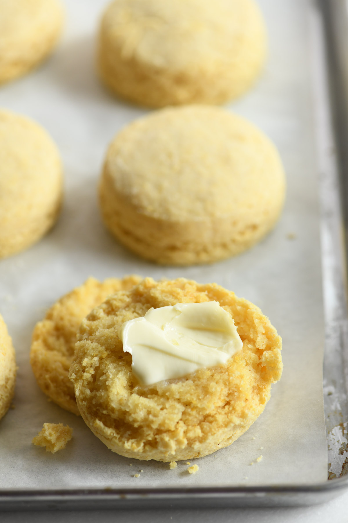masa harina biscuits with butter