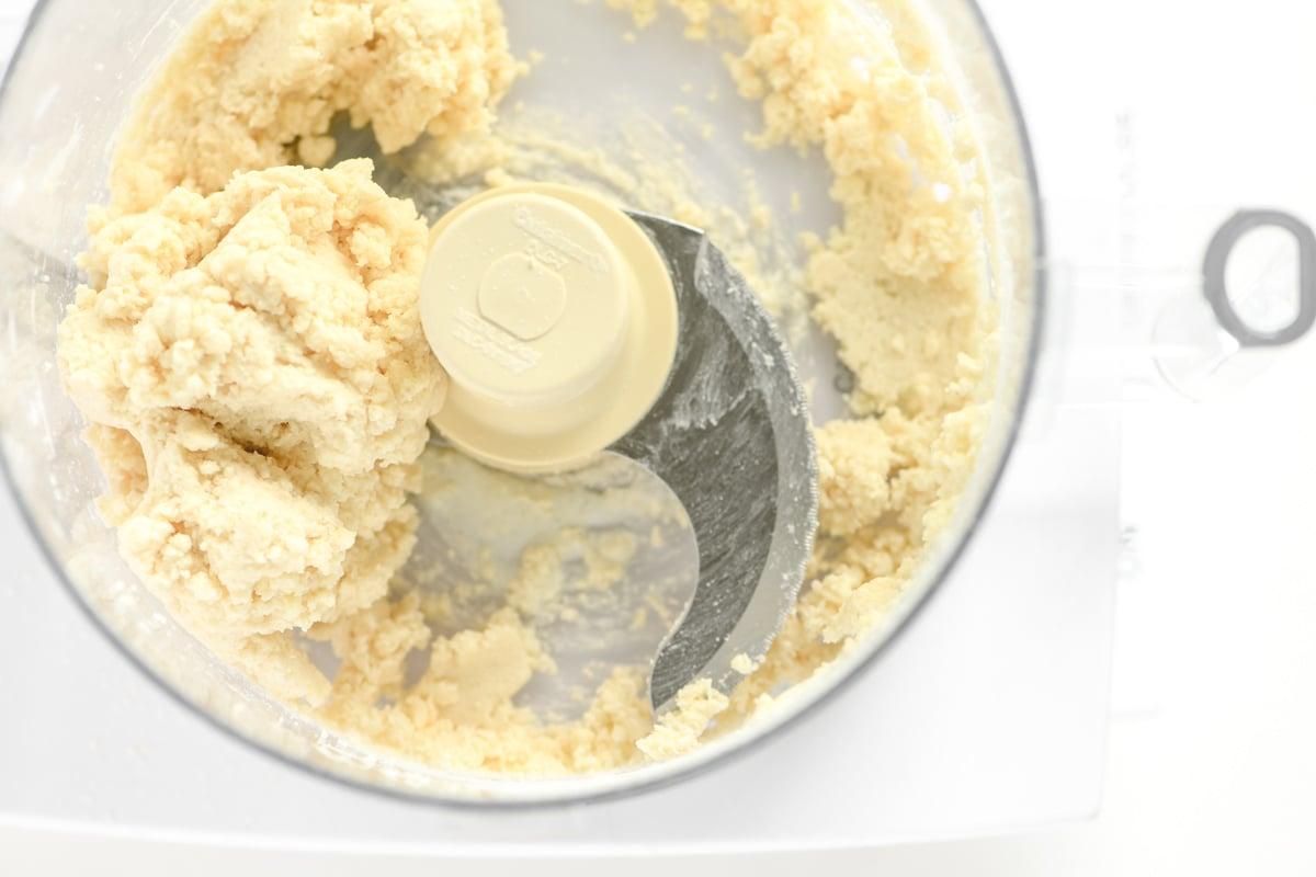 making cobbler dough in food processor