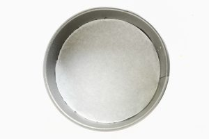 springform pan, lined with parchment paper