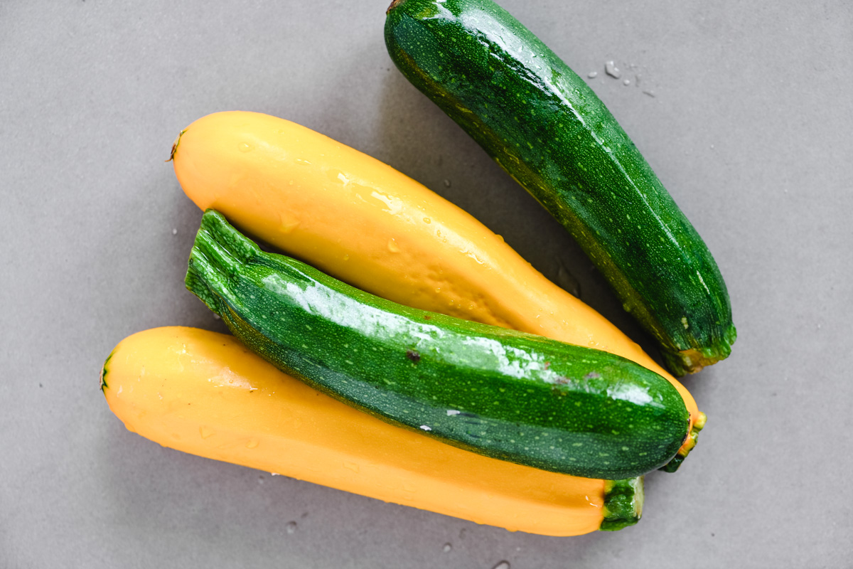 green and golden zucchini
