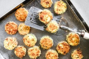 baking zucchini Parmesan crisps
