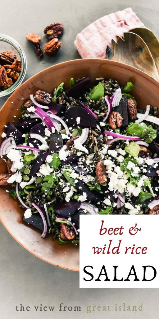 beet and wild rice salad pin