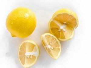 lemons cut in quarters