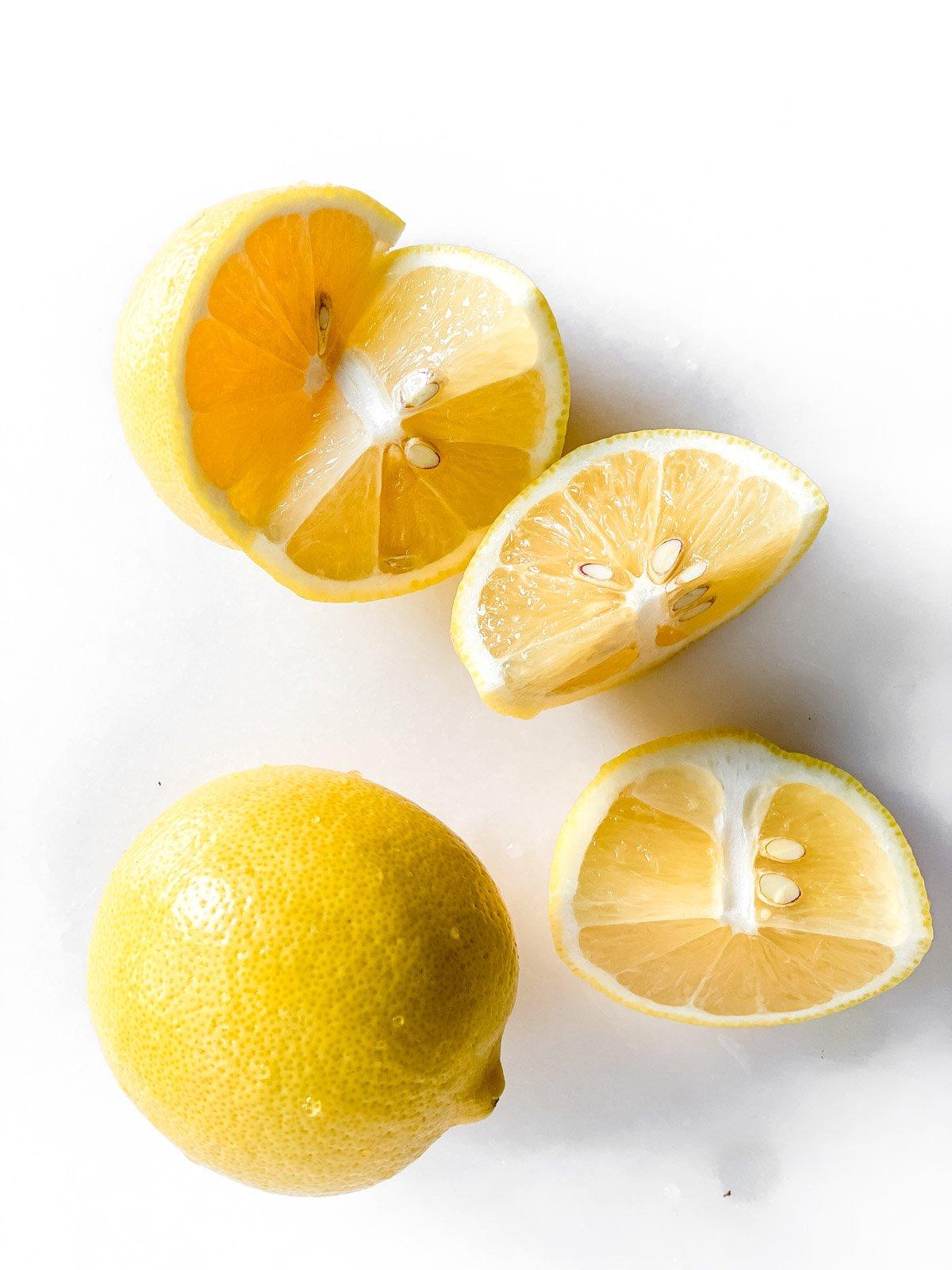fresh lemons for creamy lemonade