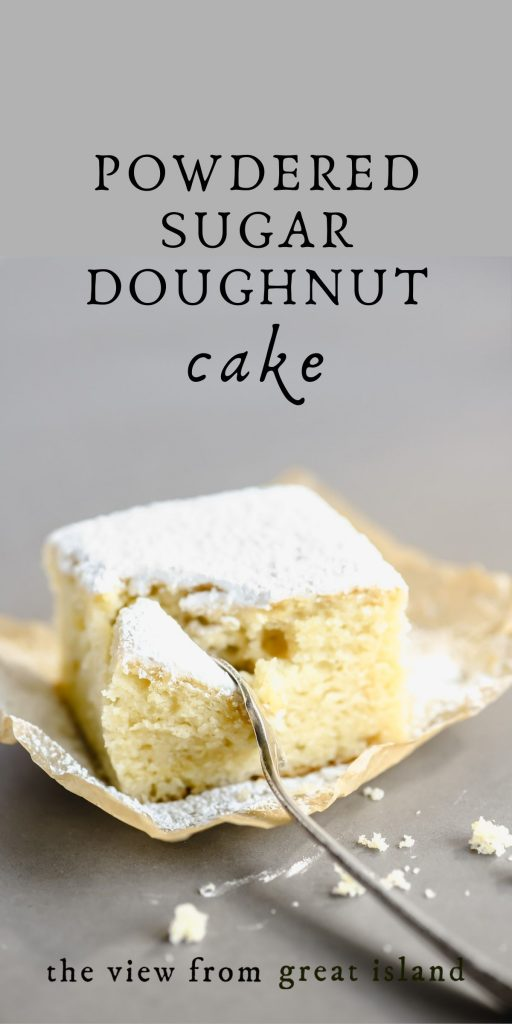 powdered sugar doughnut cake pin