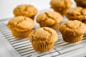 pumpkin muffins cooling
