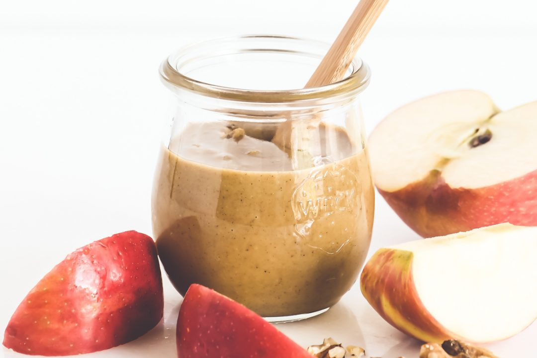maple walnut butter with apples