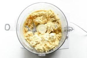 masa harina biscuit dough in food processor