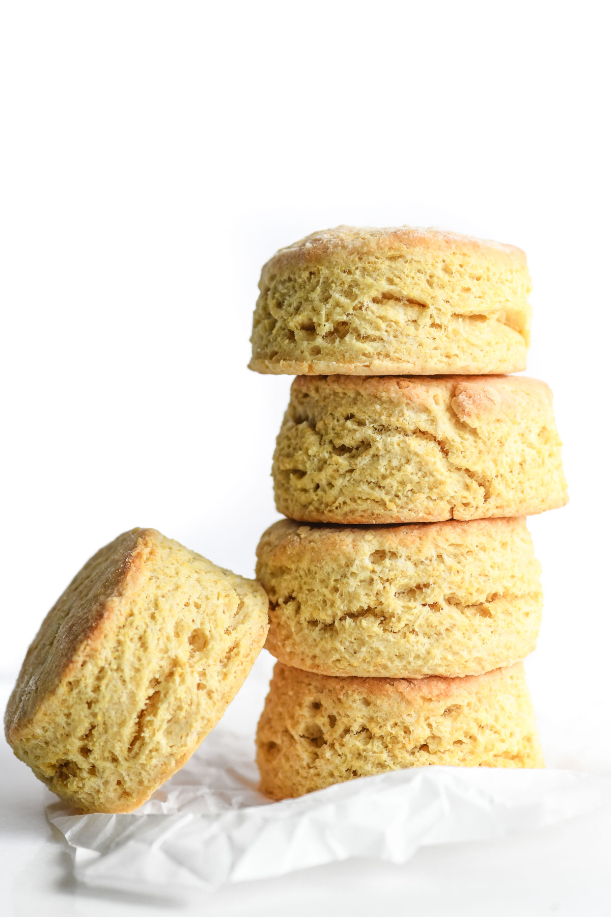 masa harina biscuits, stacked