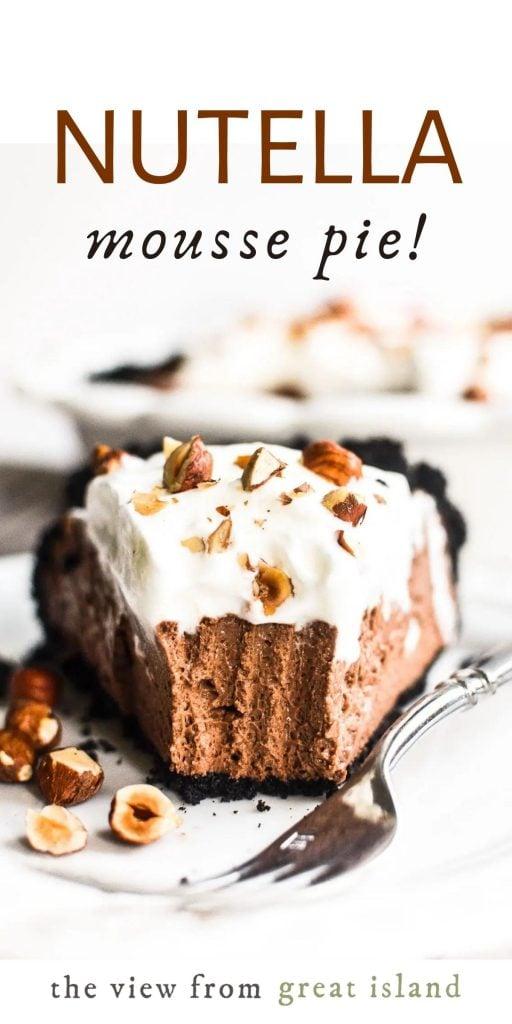 Nutella Mousse Pie pin