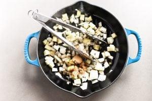 sautéing onions and brown sugar