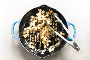 cooking aromatics for baked brats