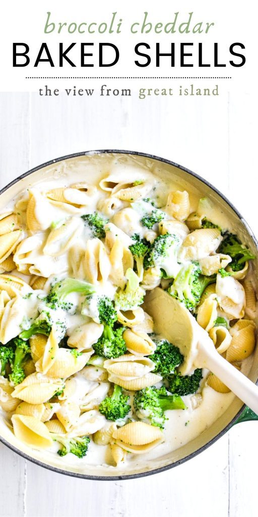broccoli cheese shells pin