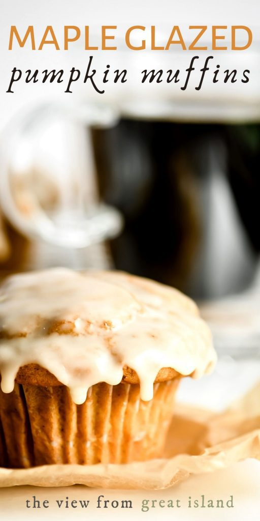 maple glazed pumpkin muffins pin