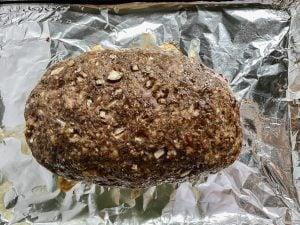 Swedish meatloaf, baked